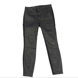 J crew black toothpick skinny jeans size 27